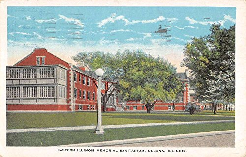 Urbana Illinois Memorial Sanitarium Street View Antique Postcard K85318 ()