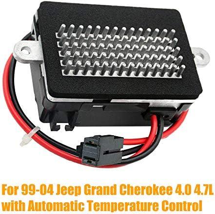 HVAC Blower Motor Resistor w/ATC Automatic Temperature Control For 1999-2004 Je ep Grand Cherokee 4.0 4.7L, Part# 5012699AA RU-358 GELUOXI