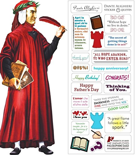 Dante Quotable Notable - Die Cut Silhouette Greeting Card and Sticker Sheet