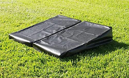Victory Tailgate Regulation Cornhole Board Bag Toss Set Covers 24x48]()