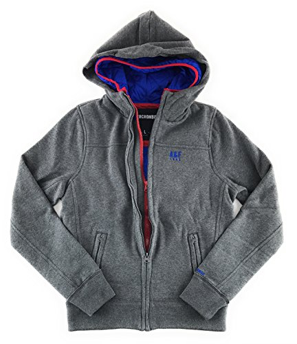 Abercrombie & Fitch Mens Double Zip Hoodie Large Gray by Abercrombie & Fitch