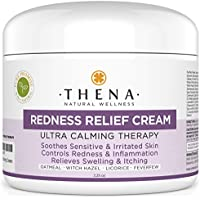 Facial Redness Relief Cream For Rosacea Skin Care, Best Organic Natural Face Moisturizer Product Repair Soothe Relieve Sensitive Inflamed Red Dry Skin, Anti Itch Redness Dermatitis Eczema Lotion