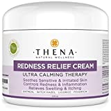 "Thena Natural Wellness Redness Relief Calming Oatmeal Face Skin Cream Day Lotion For Sensitive & Dry Skin, Natural Facial Redness Corrector & Reliever For Dermatitis, Eczema Therapy, Rashes, For Men & Women   Our customers said:    ""I have very red i..."