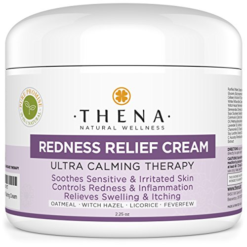 Redness Relief Face Moisturizing Cream With Colloidal Oatmeal Organic Shea Butter For Rosacea & Eczema Skin Care, Natural Facial Moisturizer Soothe Itchy Sensitive Dry Skin Anti Itch Treatment Lotion Anti Redness Treatment