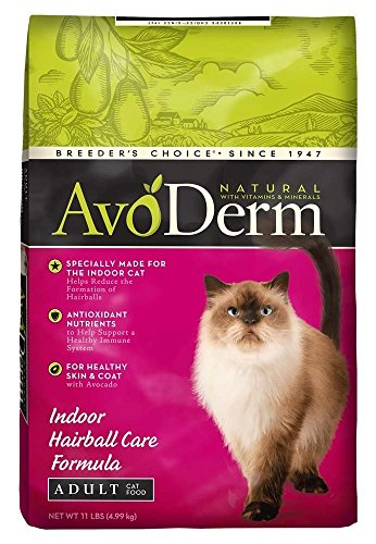 Avoderm Indoor Hairball Control Dry Cat Food, Chicken Meal Recipe, 11-Pound