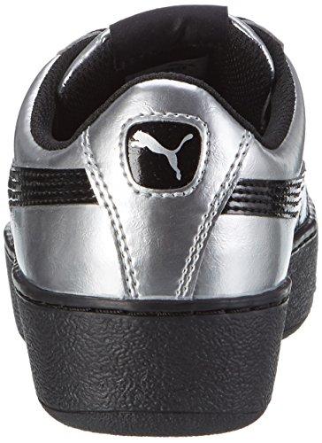 Vikky Mujer Platform para Gris Puma Zapatillas Silver Metallic puma Black Puma 02 wXAHccdqn1