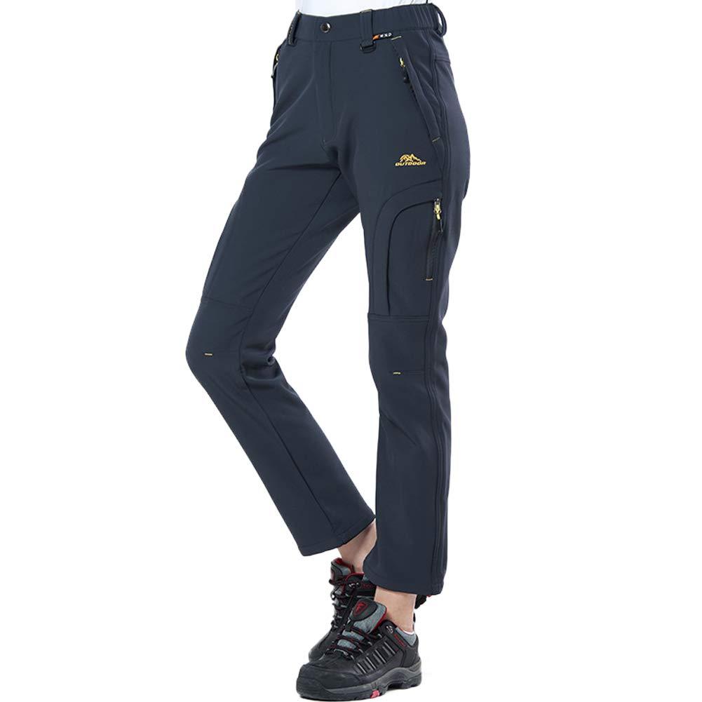 Comcrib Pantalones al Aire Libre para Mujer,Pantalones de Senderismo de Vell/ón Pantalones de Invierno C/álidos Transpirables a Prueba de Viento Pantalones de Esqu/í con Forro Pantalones de Escalada