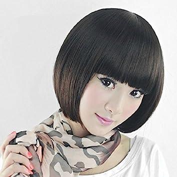 Amazon Com Yiwu Wig Girl Liu Qi Long Hair Short Wig Short Hair