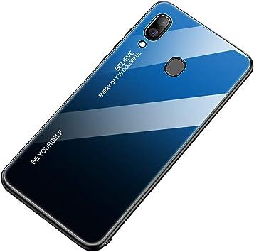 Caler Funda Vidrio Templado 9H Compatible con Samsung Galaxy A20 ...
