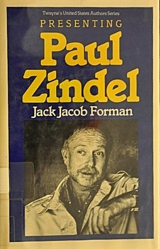 Presenting Paul Zindel (Twayne's United States Authors Series)
