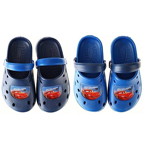 Palleon Cars Jungen Clogs Kinder Badesandalen Hellblau