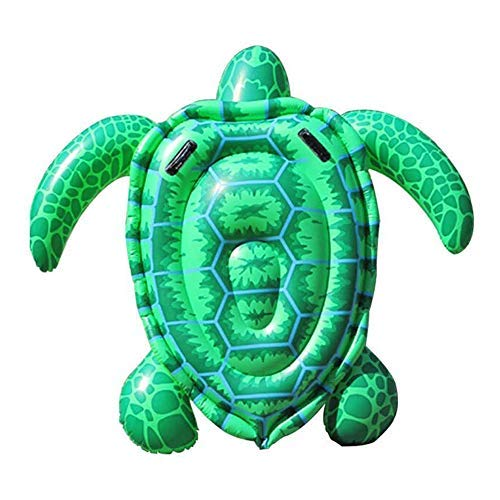 Luckstar 75'' x 67'' Sea Turtle Ride-On Inflatable Giant Turtle Float Toy Floating Bed Mat Turtle Swimming Pool Float Kids Inflate Raft Beach for Child Adults by Luckstar (Image #2)
