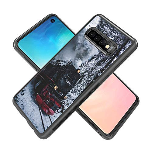 Samsung Galaxy S10 Locomotive Phone Case ChyFS Diztronic Full Matte Soft Touch Slim-Fit Flexible TPU Protective Case for Samsung Galaxy S10 ()