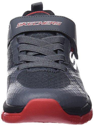 Skechers Skech Flex 2.0-Swift Pulse, Zapatillas Para Niños Gris (Charcoal/red)