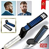 Cutie Academy Ionic Beard Straightening Comb - Detangling & Volumizing & Styling Beard Straightening Brush for Men - Portable Heating Beard Straightener with Anti-Scald Feature