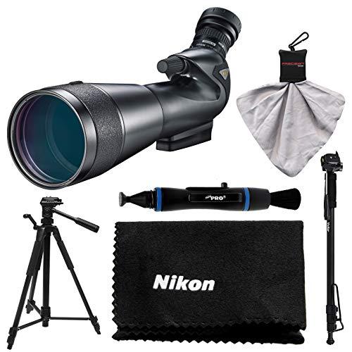 Nikon 20-60x82mm Prostaff 5 Angled Body Fieldscope Spotting Scope with Eyepiece + Tripod + Monopod + Anti-Fog Cloth + Lens Pen + Kit