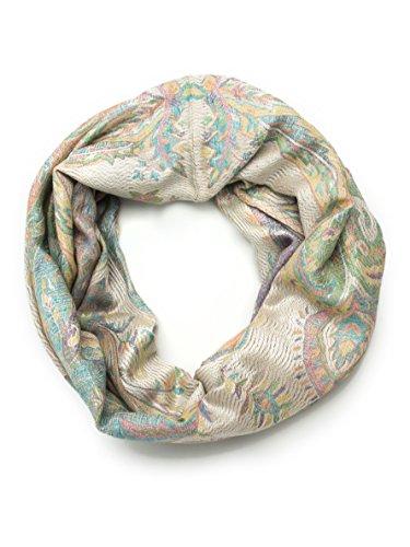 (Bohomonde, Ramaya Infinity Scarf, Richly Colored Rare Infinity Pashmina Scarf (Pastel))