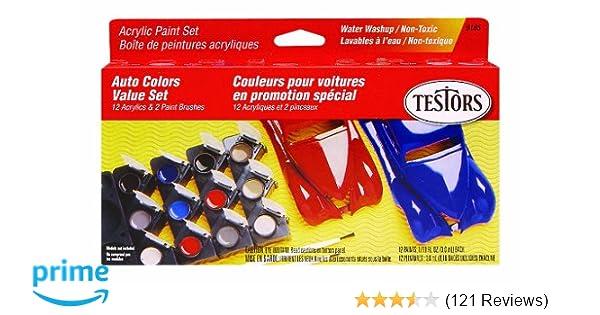 amazon com testors 9185 model car acrylic paint pot set arts