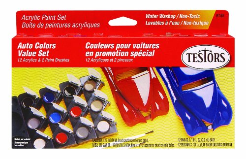 Testors 9185 Model Car Acrylic Paint Pot Set Acrylic Model Paint