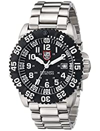 Luminox Men's A.3152 Color Mark Black Stainless Steel Watch