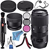 Sigma 100-400mm f/5-6.3 DG OS HSM Contemporary Lens for Nikon F 729955 + 67mm 3 Piece Filter Kit + Lens Pen Cleaner + Fibercloth + Lens Capkeeper + Lens Cleaning Kit + Flexible Tripod Bundle