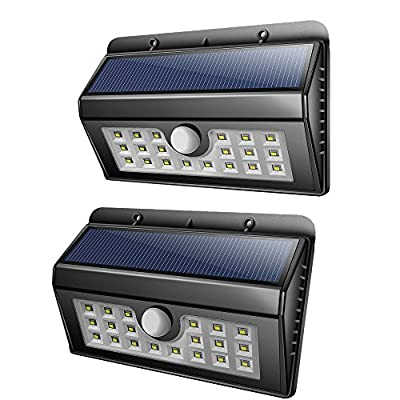 Ledsniper Solar Lights 2-Pack 20LED Motion Sensor Light Waterproof Outdoor Wall Lighting for Garden,Patio