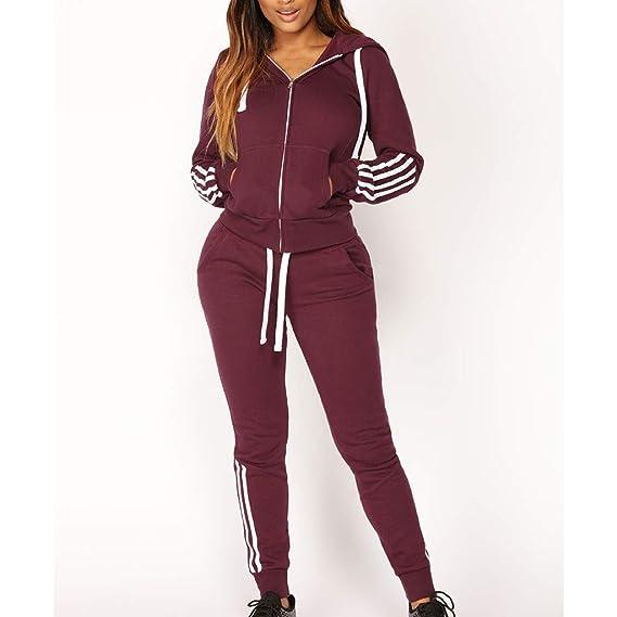 1Set Damen Jogginganzug Traininganzug Pullover Hose Jogging Fitness Sport Anzug