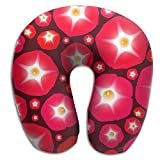 SARA NELL Memory Foam Neck Pillow Vintage Floral Hawaii Flowers U-Shape Travel Pillow Ergonomic Contoured Design Washable Cover For Airplane Train Car Bus Office