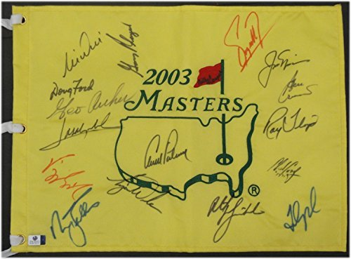 Masters Champions 2003 Masters Golf pin Flag 17 Autos Woods Palmer Nicklaus