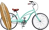 Cheap Anti Rust Light Weight Aluminum Alloy Frame Fito Marina alloy 3 speed 26″ wheel womens beach cruiser bike bicycle mint green