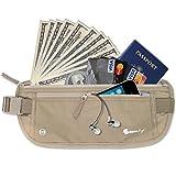 Gearbay6 RFID Blocking Money Belt Beige - Money Belt RFID Blocking Sleeves Security