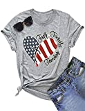 American Flag Letter T Shirt Back to School Supplies College Short Sleeve Ladies