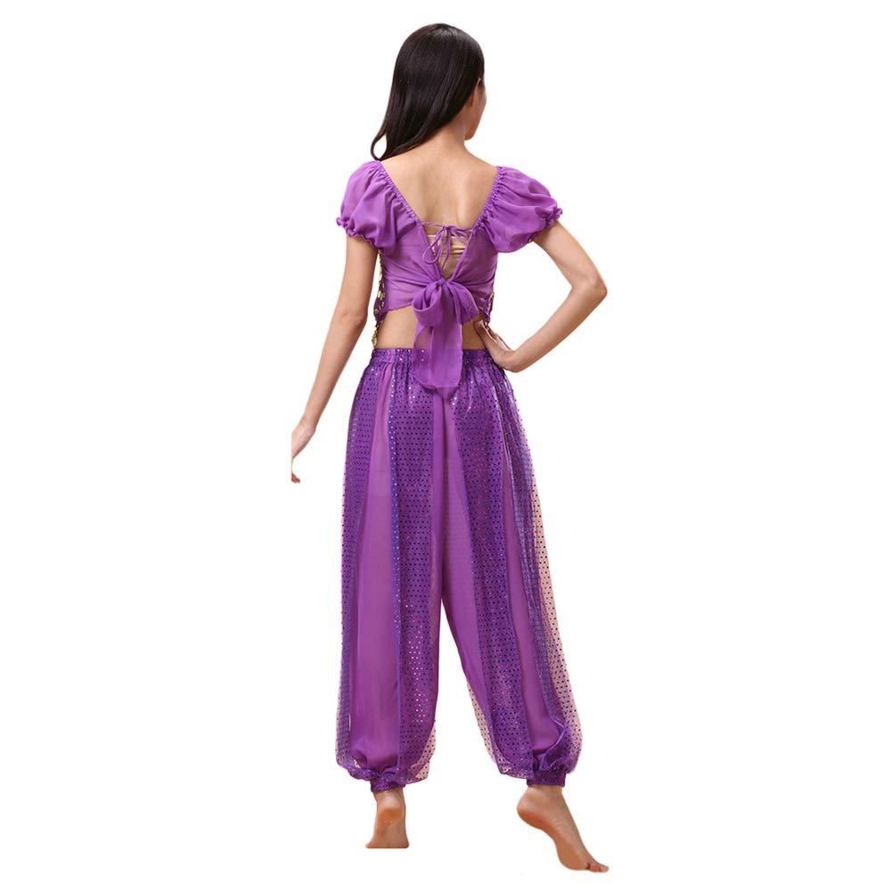 Pantaloni dgaddcd Donne Danza del Ventre Outfit Costume Halloween Carnevale Vestiti da Ballo Danza Indiana Abbigliamento Prestazioni Top