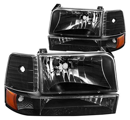 DNA Motoring HL-OH-F15092-6P-BK-AM Headlight Assembly, Driver & Passenger Side ()