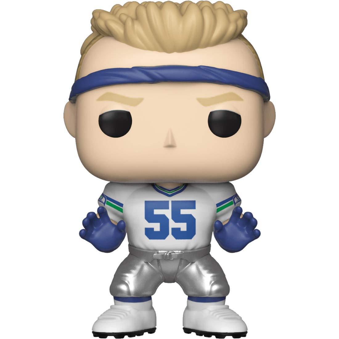 Football Vinyl Figure /& 1 PET Plastic Graphical Protector Bundle Brian Bosworth : NFL x Funko POP BCC94Z180 Seattle Seahawks #113 // 33306 - B