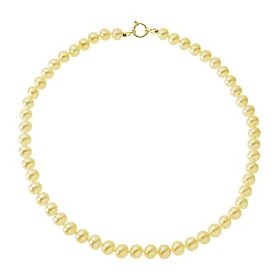 0ee84535a07 Pearls   Colors - Collier Rang - Or Jaune 9 Cts - Perle d Eau Douce ...
