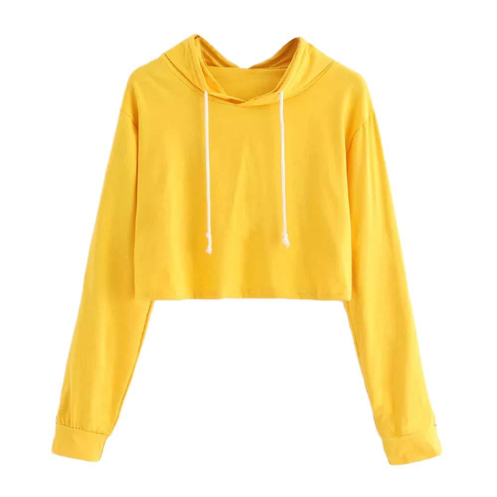 Robemon Femmes Hoodie Manches Longues Capuche Sweat-Shirt Capuche Pulls Hauts Blouse