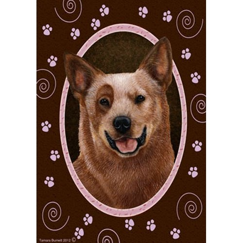 Best of Breed Pink Paws Garden Flag – Red Australian Cattle Dog