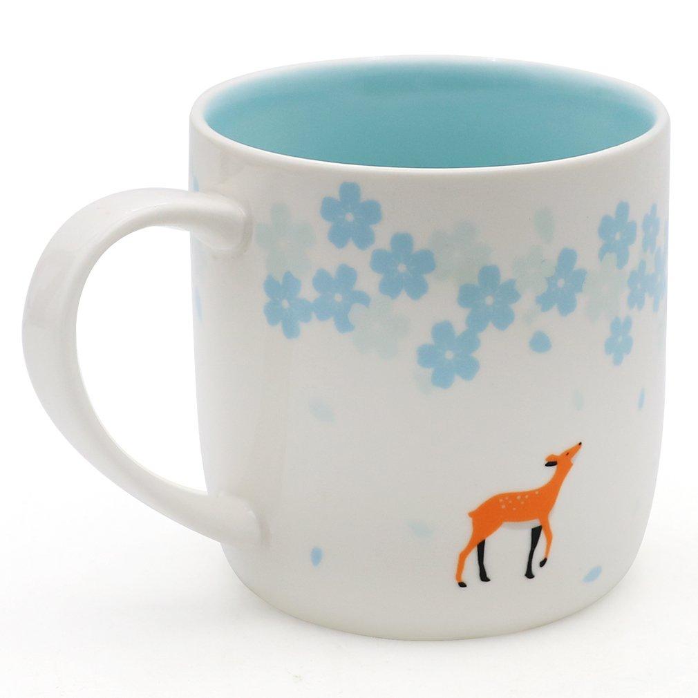 EPFamily Cute Deer Mug Funny Ceramic Coffee Tea Cups Mugs Gifts for Women Girls Grandma Mom Animal Lovers 11 oz by EPFamily (Image #1)