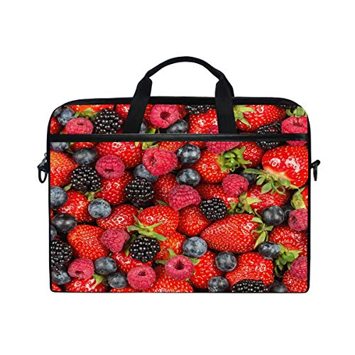 Laptop Computer Bag Sleeves 15 15.4 Inch Strawberry Berry Fruits Laptop Sleeve Notebook Computer Pocket Case Tablet Briefcase Carrying Bag Laptop Shoulder - 15.4 Inch Berry