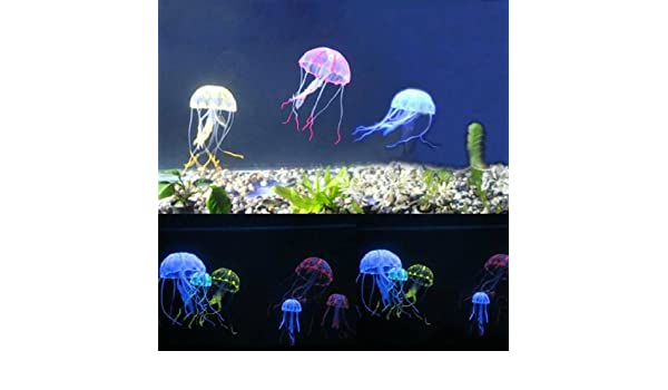 Amazon.com: [Free Shipping] 5 Colour A Set for Artificial Jellyfish Fish Aquarium Ornament 5CM // 5 colorean un juego para la medusa artificial decoración ...