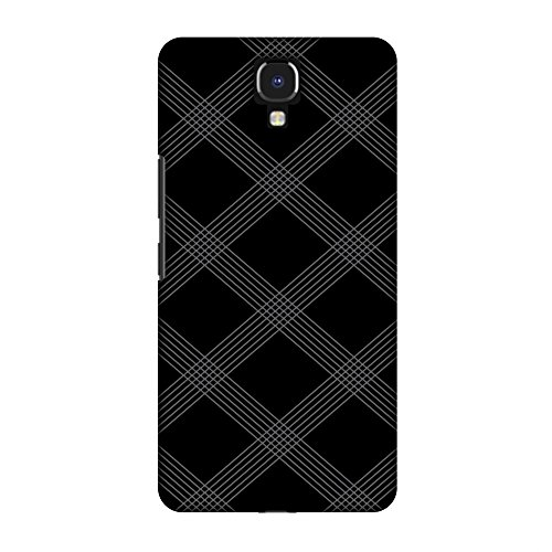 AMZER Slim Designer Snap On Hard Shell Case Back Cover for Infinix Note 4 - Carbon Fibre Redux 5