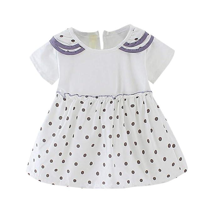 Vestido de Punto Princesa de Manga Corta para bebé niña Ropa ...