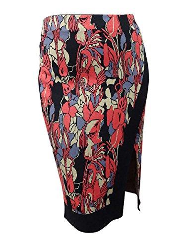 Rachel Rachel Roy Plus Size Midi Printed Sweater Skirt X, Coral, 3X (Skirt Career)
