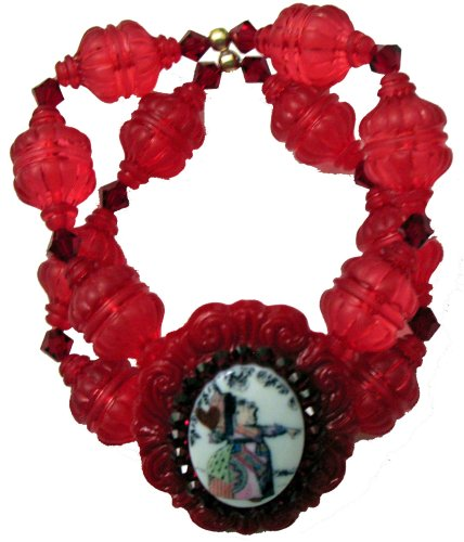 Bracelet Tarina Tarantino Cameo (Tarina Tarantino Queen Alice Cameo Cuff Bracelet (Red))