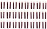 Darice 6204-42 2 Pack Burgundy Wax Dipped Battery Operated 6'' LED Taper Candles - Quantity 24