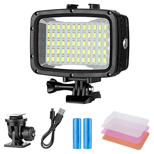 Neewer Unterwater Licht Tauchlicht 60 LED Dimmbare wasserdichte...