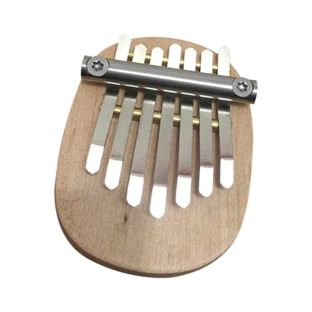 Centishop 7 Keys Kalimba Thumb Piano Mini Solid Finger Piano Professional Finger Thumb Piano
