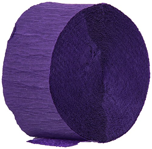 Creative Converting Touch of Color Crepe Paper Streamer Roll, 81-Feet, Purple - Crepe Streamer Party Decoration