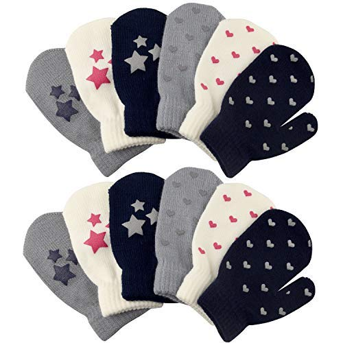 TUPARKA 12 Pairs Toddler Magic Stretch Mittens Little Girls Soft Knit Mitten Baby Boys Winter Knitted Gloves (Best Winter Mittens For Toddlers)